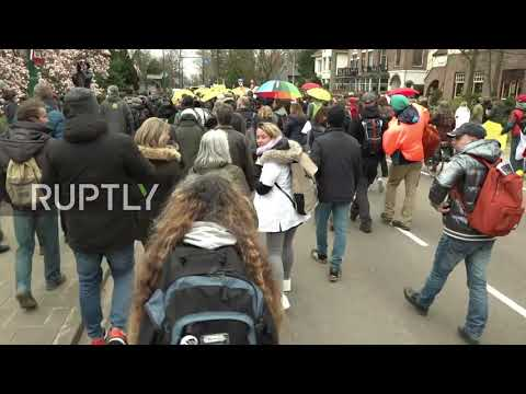 "Netherlands: ""Police for Freedom"" march against COVID restrix in Baarn"