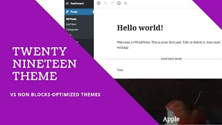 Why Twenty Nineteen Theme? WordPress 2019 Theme is WP Block-Optimized Theme