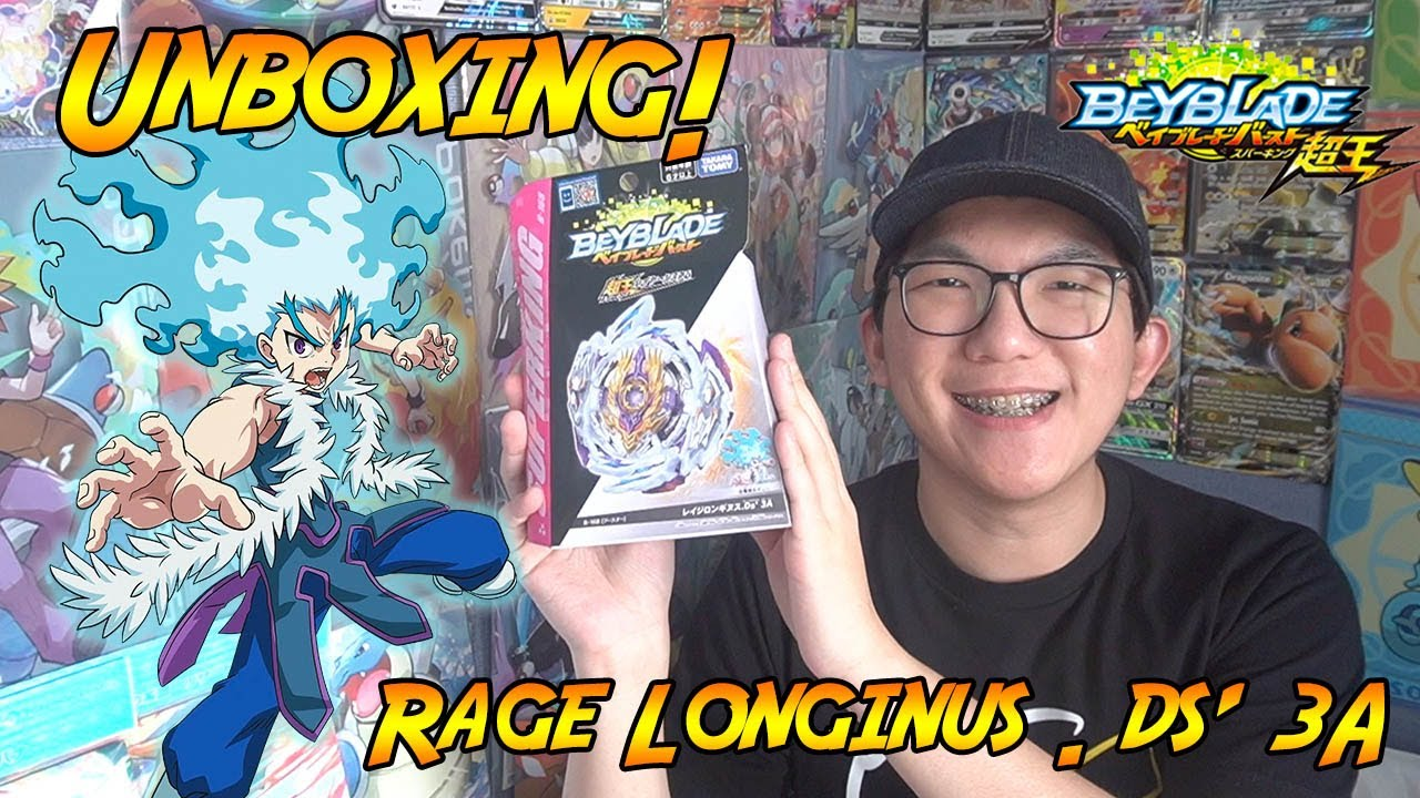 TENDANG TEROSSS! Unboxing Rage Longinus . Ds' 3A - Beyblade Burst Indonesia