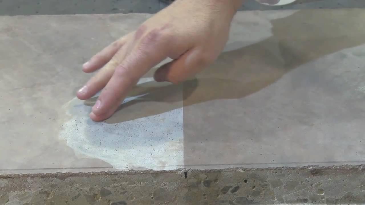 Polished Concrete Vinegar Test