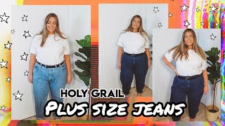 The BEST Plus Size Mom Jeans?🤷♀️ Size 16-18 Holy Grail Denim Collection + Try On 🍊👖