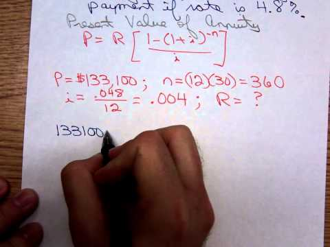 Math 1324 Finding Mortgage Payment