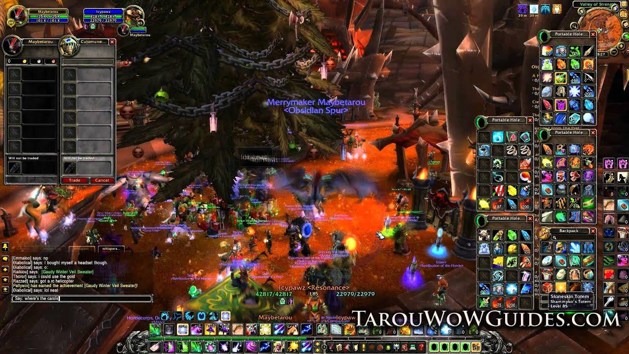 tarous 200000g christmas and holiday gold item giveaway recap world of warcraft - World Of Warcraft Christmas