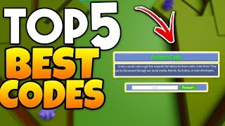TOP 5 BEST CODES! *2018* | Build A Boat For Treasure ROBLOX
