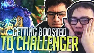 Scarra- Getting boosted to Challenger ft BASED YOONA!