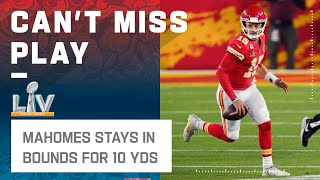 Mahomes Buys Time & Runs for a 1st Down!