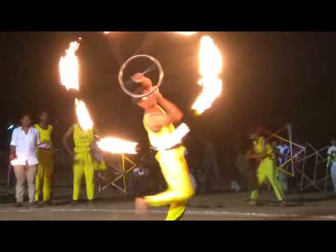 Fire Performance Part-1   State Level Traditional Silambam Group Competition-2018   Madurai
