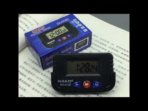 Portable Car Electronic Clock Test Sports Clock Small Alarm Clock Stopwatch