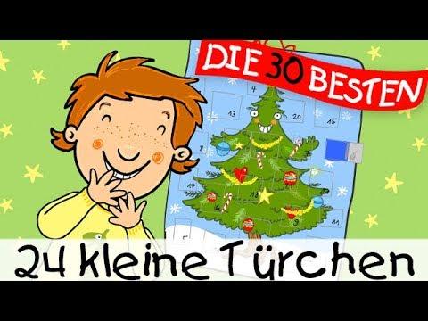24 kleine Türchen - Weihnachtslieder zum Mitsingen || Kinderlieder