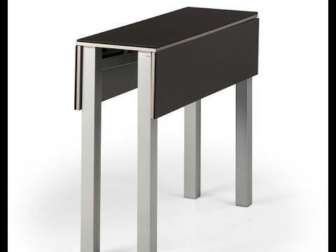 Mesa cocina estrecha greta discalsa fondo 30 cm youtube for Cocinas estrechas con mesa