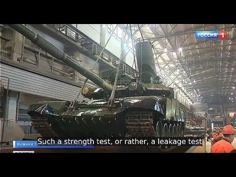 TANK BATHING! New T-90S Tanks Dropped in Water Tanks for Vigorous Leakage Test