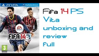 Fifa 14 Legacy Edition PS Vita review and unboxing