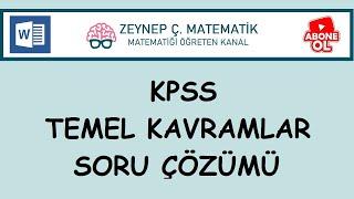 8) KPSS TEMEL KAVRAMLAR SORU ÇÖZÜMÜ-DETAYLI ANLATIM-WORD