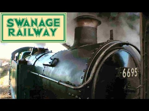 Swanage Railway UK. Great Western Railway. GWR Steam Collett Tank Locomotive 6695. Dorset Tourism
