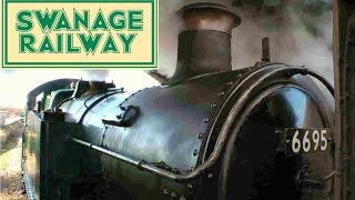 Swanage Railway 2014. Great Western Railway. GWR Collett Tank Locomotive 6695 at work.