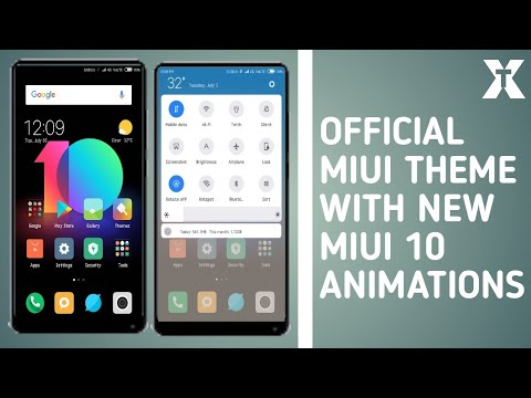 New Miui 10 theme with real miui 10 china rom animations in limitless theme  | hindi