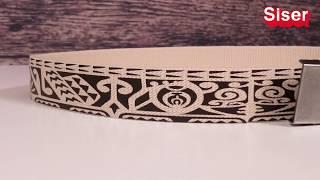 Decorando correa o cinturón de tela con vinil textil EasyWeed® de Siser