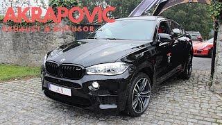 BMW X6M w/ AKRAPOVIC Exhaust & Diffusor! Close-Up & Hard Acceleration
