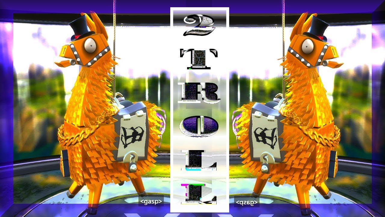fortnite best llama in game opening legendary troll loot truck llamas - fortnite lama ingame