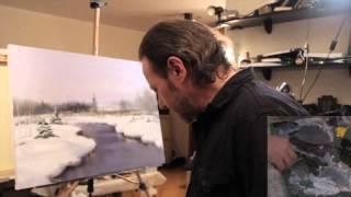 НОВИНКА   Зимний пейзаж  видеоурок от Игоря Сахарова