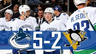 Canucks vs Penguins | Highlights | Nov. 22, 2017 [HD]
