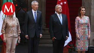 AMLO recibe a primer ministro de Singapur