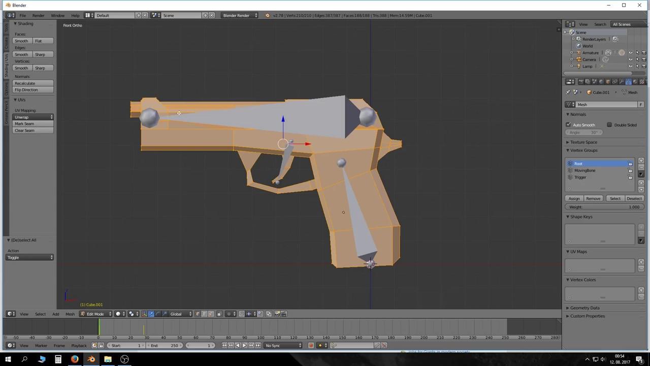 Blender tutorial gun rigging