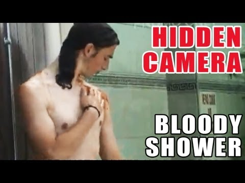 Bloody Shower Prank @ Swimming Pool (Mad boys)