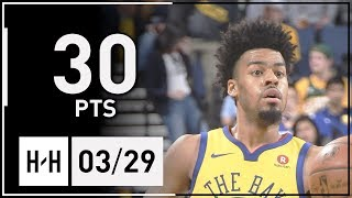 Quinn Cook Full Highlights Bucks vs Warriors (2018.03.29) - 30 Pts, 3 Ast, 4 Reb!