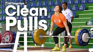 Ou Lingli (58kg Jr World Champ) Clean Pulls 2016 Junior Worlds Training Hall