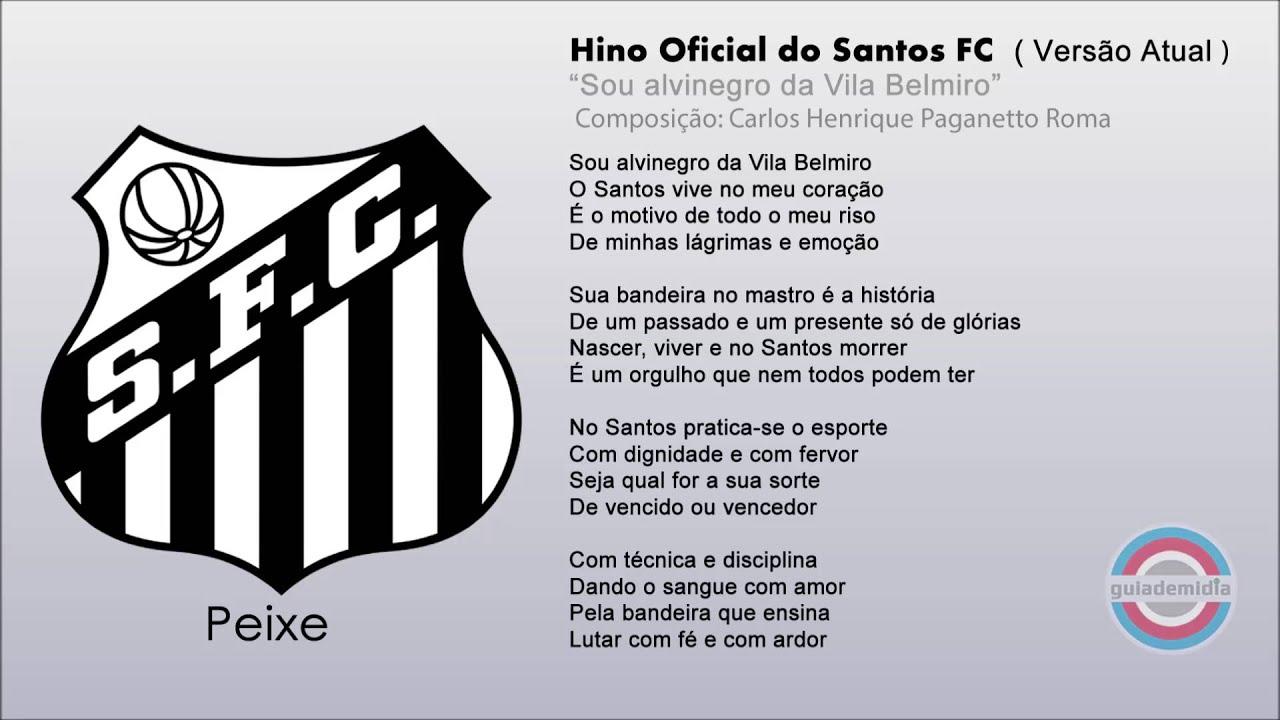 Hino Oficial do Santos F.C. ( VERSÃO ATUAL ) - YouTube 2695b05ea2fea