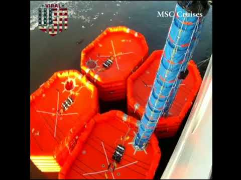 Different types of marine evacuation system ||viral in USA||