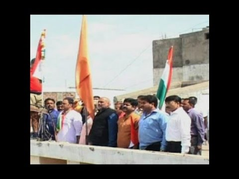 Indore: Congress and RSS jointly hoist tricolor at RSS office