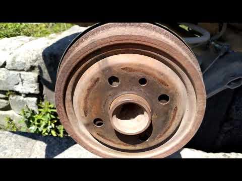 замена колодок/барабана заднего тормоза. Opel Astra F