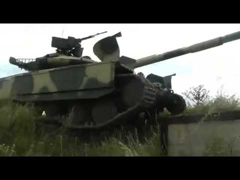 Танк Т-64Б1М испытания  (T-64B1M Main battle tank  is a recent Ukrainian upgrade of the T-64B1)