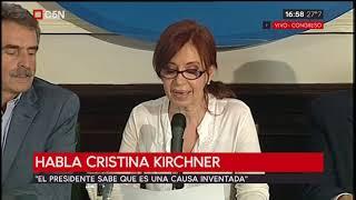 Conferencia de prensa de Cristina Kirchner