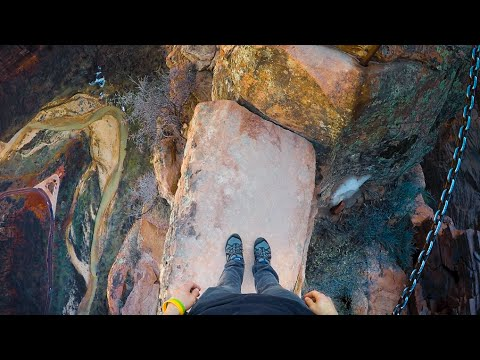 Worlds most dangerous hikes - Angels landing, Zion (full hike)