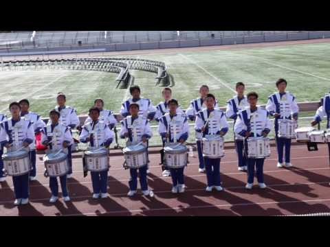 First Avenue Middle School Drum Line at AFOB 2016 Part 1