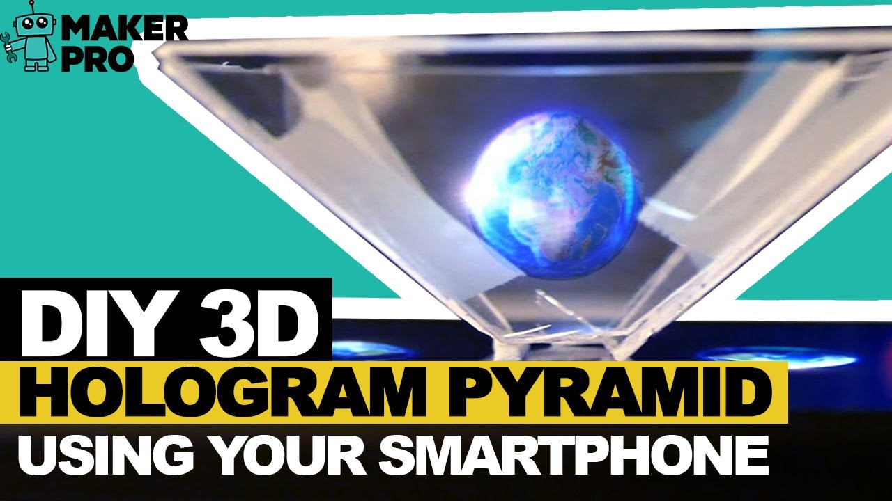 How to Make a 3D Hologram Pyramid for Your Smartphone
