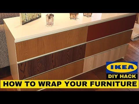 CUSTOMIZE YOUR IKEA FURNITURE | DIY Hack with Vinyl Wrap