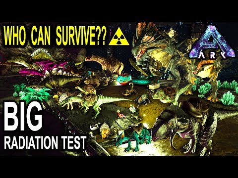 ☢️ARK RADIATION TEST! WHICH CREATURE CAN SURVIVE THE RADIATION OF ABERRATION?? Ark Survival Evolved