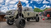 "This GIRL has HUGE 13"" LIFTED Ford F350 on 42's ($150K)"