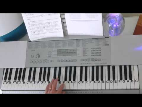 How To Play ~ Lullaby Cradle Song ~ Brahms ~ LetterNotePlayer ©