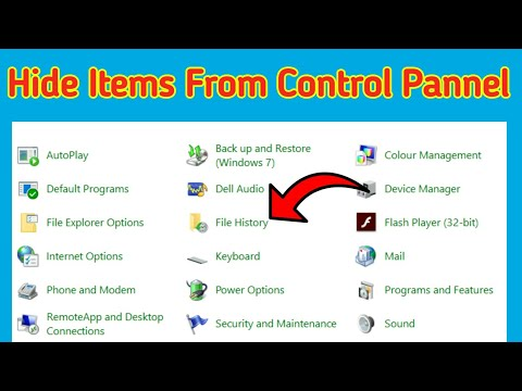 How to Hide Items from the Control Pannel in Windows 10