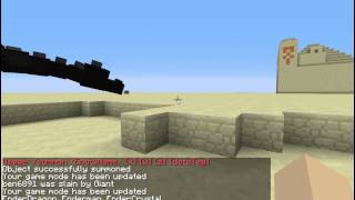 Minecraft 1.8.3 How to spawn Giants and the Ender Dragon (with cheats on)