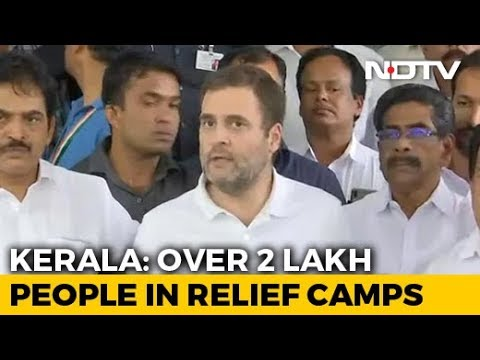 'This Is A Disaster, Don't Want To Blame': Rahul Gandhi On Kerala Floods