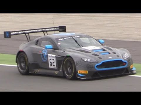 Aston Martin V12 Vantage Gt3 In Action At Monza Circuit Youtube