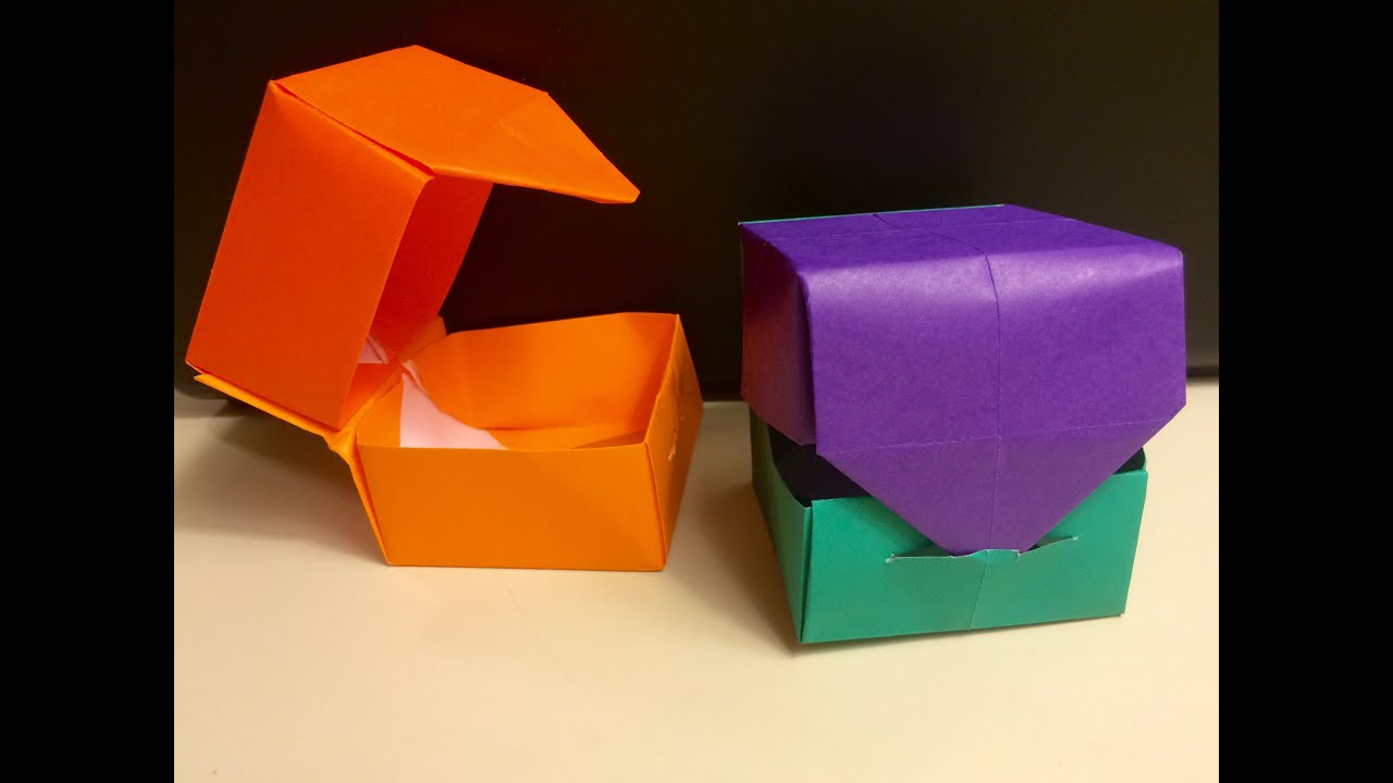 origami quothingedquot box with lid fun and easy for kids
