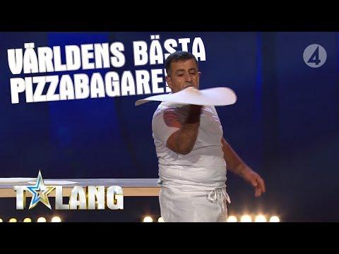 Zekis fantastiska jonglering med pizzadeg