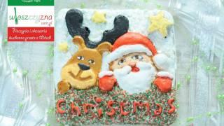 Ciasto świąteczne - Mikołaj z reniferem | DOROTA.iN
